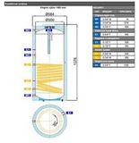 Nepřímotopný ohřívač 160l Regulus R2DC-160