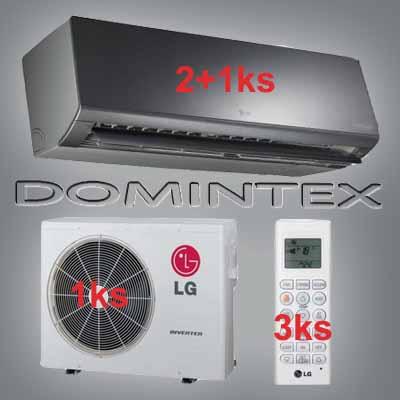 Klimatizace LG ArtCool 7,7kW 2xMS07SQ/1xMS12AW
