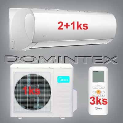 Klimatizace Midea Blanc 12,3 kW 2x12HRFN1/1x18HRFN1