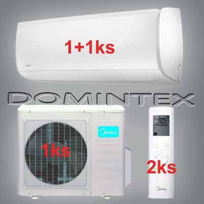 Klimatizace Midea Mission 6,1kW 1x09HRFN1/1x12HRFN1
