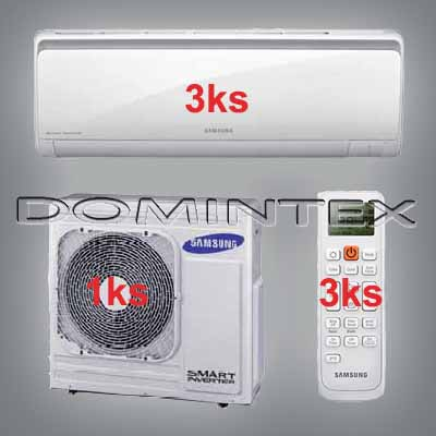 Klimatizace Samsung Boracay+ 10.5/12kW-3xAR12KSFHBWKNET