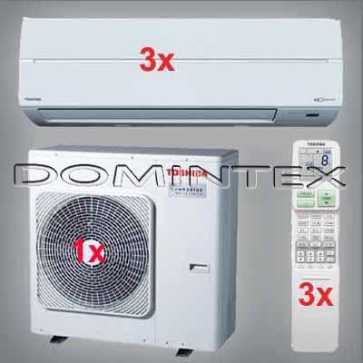 Klimatizace Toshiba Suzumi Plus 7.5kW RAS-B10N3KV2-E-3x