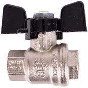 """Kulový ventil Bugatti BUG 302 1/4 """"s motýlkem"""