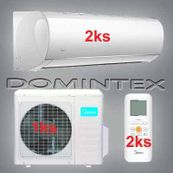 Klimatizace Midea Blanc 5,2 kW 2xMSMAAU-09HRDN1