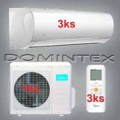 Klimatizace Midea Blanc 7,8kW 3xMSMAAU-09HRDN1