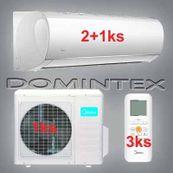 Klimatizace Midea Blanc 8,7 kW 2x09HRDN1/1x12HRDN1