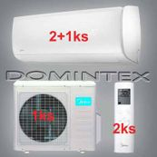 Klimatizace Midea Mission 9,6 kW 2x12HRFN1/1x09HRFN1