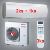 Klimatizace Toshiba SuperDaiseikai 6.5 9.5kW 2xRAS-B10N 1x-RAS-B16N