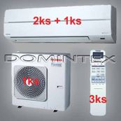 Klimatizace Toshiba Suzumi Plus 9.5kW 1xRAS-B10N 2x-RAS-B13N
