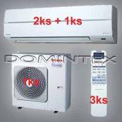Klimatizace Toshiba Suzumi Plus 11,5kW 2xRAS-B13N 1x-RAS-B16N